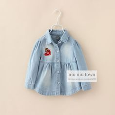 00050 TJ-6J2539 Free shipping 5 pcs/lot Wholesale Kids shirt collar denim shirt European and American frosted 2-6 years old http://www.aliexpress.com/store/1047972