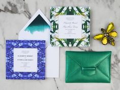 This Oscar de la Renta x Paperless Post collaboration has seriously upped our stationary game