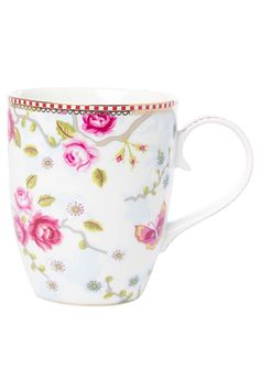 PiP Mug Large Chinese Blossom White