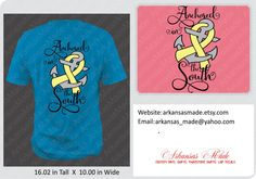 Anchored in the South shirt with anchor and ribbon, anchor shirt, southern girls shirt, country girls, southern shirt, southern girl shirt - pinned by pin4etsy.com