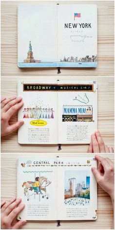 Illustrated Cities: New York // I like the first page, as an idea for the begining of a chapter ?