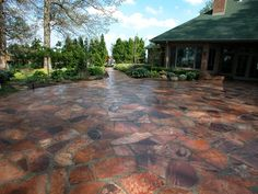 Red Flagstone Patio Paving  Recently Added  Small's Landscaping Inc  Valparaiso, IN