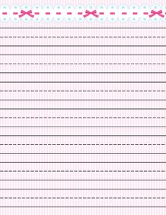 Free printable kids stationery, free printable writing paper for kids, primary lined writing paper