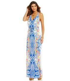 317b86ff071 Gianni Bini Ronnie Printed Halter Maxi Dress  Dillards Halter Maxi Dresses