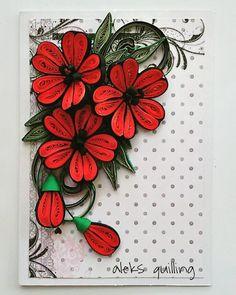#quillingcards#quillingcraft #quillingcreations #quillingflowers #red#paperwork #paperflowers #papercrafts #papercards #paperquilling #handmadecards #hanndmadeflowers #квиллингцветы #квиллинготкрытка