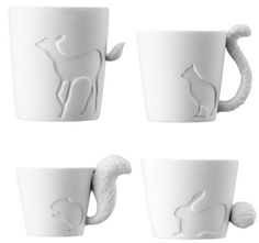 Animal Mugs :-) Pinned to FOR . THE . HOME