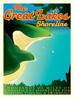 Vintage Lake Michigan | Michigan | Pinterest | Lakes, Vintage and ...