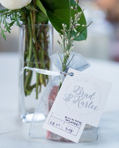 Handmade wedding favor idea - handcrafted soaps with elegant tags {Powers Photography Studios}