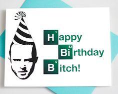 Funny Birthday Card - Breaking Bad - Jesse Pinkman - Happy Birthday Card - Greeting Card