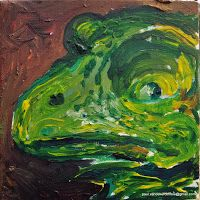 Frog acryl on canvas