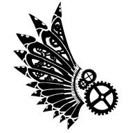 Steampunk by DreamSteam: Got Ink? Steampunk Tattoo Designs, Part 2 gear wing tribal flash art ~A. Steampunk Wings Tattoo, Steampunk Tattoo Design, Henna Designs, Tattoo Designs, Gear Tattoo, Steampunk Kunst, Steampunk Bird, Geniale Tattoos, Future Tattoos