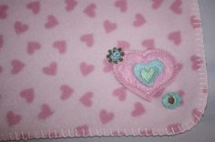 Circo Target BABY BLANKET Felt HEARTS FLOWER Corner Security Pink Fleece Lovey #Circo