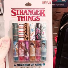 ✨Stranger Things Lip Gloss ✨ I found these really cool Stranger Things Lip Glosses at FYE the other day. They all are different scents and…