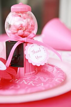 Pink party favors! More ideas, too. Via Kara's Party Ideas KarasPartyIdeas.com