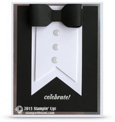 VIDEO: Black Tie Tuxedo Card for New Years and other Events | Stamp With Tami…