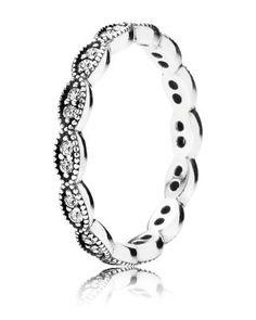 PANDORA Ring - Sterling Silver & Cubic Zirconia   Bloomingdale's