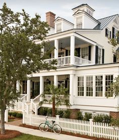 Two story porch AND a picket fence. My future house in key west, lol