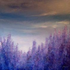 "Saatchi Art Artist K McCoy; Painting, ""Lavender Field Abstract"" #art"