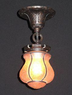 Antique porch light fixture (1) by VintageLights.com, via Flickr