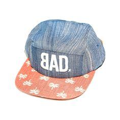 BAD Hat | The Peter Brennan & TCUP | Palm Tree Brim | 5 Panel Strapback