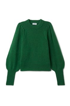 <p>The Duet Sweater combines fine feminine details in a subtle design. Knitted in a wool blend with just a bit of mohair for and extra soft touch, it has a