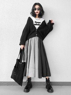 Looks featuring Ai Muslim Fashion, Modest Fashion, Skirt Fashion, Hijab Fashion, Fashion Outfits, Fashion Hacks, Fashion Tips, Japanese Fashion, Asian Fashion