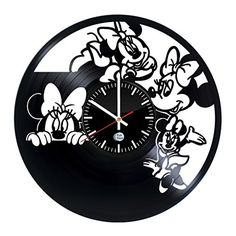 Little Mouse Ornament Vinyl Record Wall Clock  Get Unique Kids Room Wall Decor  Gift Ideas For Baby Teens Boys and Girls  Cartoons Characters Unique Art Design -- You can find out more details at the link of the image. Note: It's an affiliate link to Amazon
