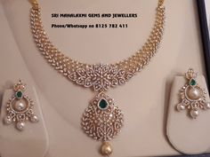 Get the best designs of Diamond Necklaces IGI certified VVS EF finest quality. Presenting here is a Diamond set with Chandbali ear rings. Visit for full variety at wholesale prices. Call on 8125 782 411 for orders. Real Diamond Necklace, Diamond Jewelry, Gold Jewelry, Emerald Necklace, Gold Necklace, Bridal Jewelry, Dimond Necklace, Diamond Earrings Indian, Pagoda Jewelry