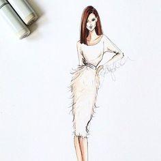Flashback to the beautiful @cocorocha in @csiriano #fashionsketch…