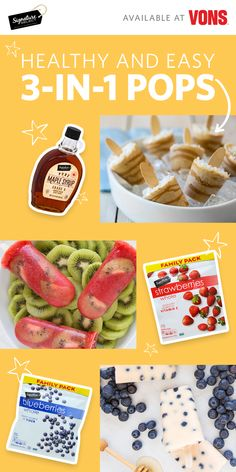 Try these three easy and healthy pop snacks feature Signature SELECT® blueberries, strawberries and