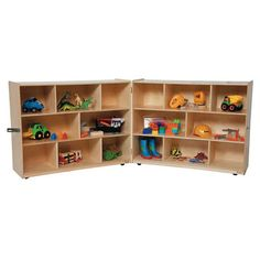 "Birch Folding Storage Cubby - 16 Compartments - 36""H x 96""W x 18""D at SCHOOLSin"