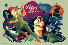 Peter Pan (variant) by Tom Whalen for Mondo X Cyclops #Disney