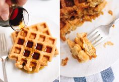 These crispy and fluffy oat flour waffles are the very best! They're light, healthy and gluten free. Best of all, they only require one flour—oat flour!