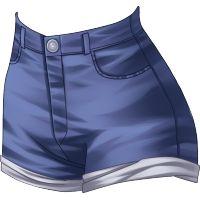 Short cintura alta Going to Hell azul