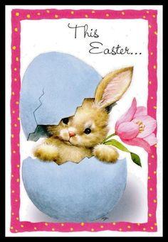 155-GC Ruth Morehead RABBIT Unused Easter Greeting Card | eBay