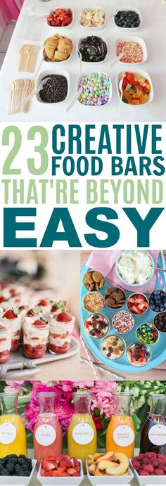 These 23 Food Bars Are INCREDIBLE! They are so easy to replicate and are really cute!