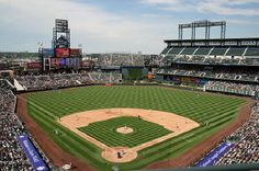 Coors Field - Colorado Rockies.  Love this place.  It's so cool and so fun to watch the Rockies!  Baseball one of our favorite spectator sports!