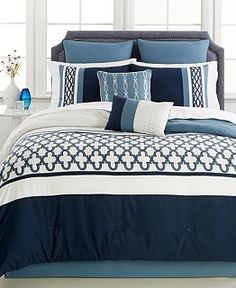 Verona Blue 8-Pc. Comforter Set - Bed in a Bag - Bed & Bath - Macy's