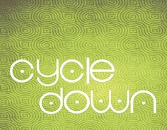 "Check out new work on my @Behance portfolio: ""Cycledown free typeface"" http://on.be.net/1qBmW4P"