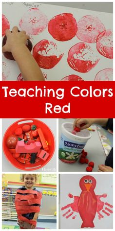 Colors - Red Teaching Colors Red - so many cute crafts and activities to celebrate RED!Teaching Colors Red - so many cute crafts and activities to celebrate RED! Color Red Activities, Color Activities For Toddlers, Preschool Colors, Teaching Colors, Preschool Crafts, Toddler Activities, Preschool Activities, Teaching Toddlers Colors, Toddler Art