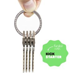 Smart Key Holder and Compact Quiet Organizer for Men & Women ● Premium Waterproof Accessory ● Perfect for Your Pocket, Belt, Purse or Wall ● 2015 Stainless Steel Best Keychain Ring MAGKEY