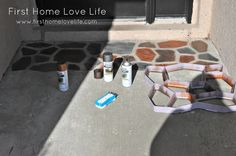 spray paint concrete - awesome!