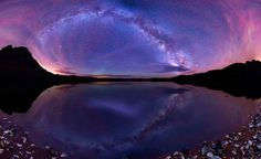 Milky Way panoramic photographs taken in US wilderness by Matt ...