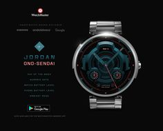 'ONO-SENDAI' watchface by Eric Jordan - now available in app stores & Watchmaster Android app. #WatchMaster #watchface #EricJordan #newbrand #new #Ono_Sendai #watchbattery #phonebattery #instore #now #download #Samsung #Google #Samsunggear #Androidwear #Android #analog #date #week #unique #brand_watch #smartwatch #watch #ui #cyberpunk #futuristic #hightech