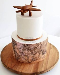 Our Custom Icing Edible Image cake wraps have always been very popular. Grab your cake dimensions and contact us today to get your order underway for your event Map Cake, Cake Art, Beautiful Cakes, Amazing Cakes, Travel Cake, Travel Party, Bolo Cake, Cupcakes, Cakes For Men
