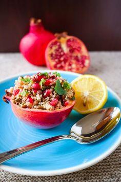 Couscous-Linsen-Salat mit Granatapfel Mehr