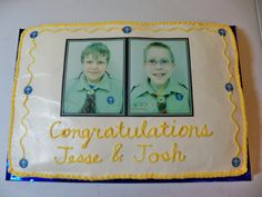 This cake was for a scout group.