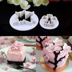 Sakura Flower Cake Fondant Cookie Biscuit Decorating Mold Gum Paste  cakepins.com