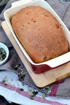 Teljes kiőrlésű, magvas tönkölykenyér Vegan Bread, How To Make Bread, Bread Recipes, Banana Bread, Healthy Snacks, Food And Drink, Cake, Diet, Kuchen