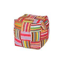Ejoro Bean Bag by Ashanti Design Bean Bags, Footrest, Fabric Design, Bean Bag Chair, Hand Weaving, Design Inspiration, Stripes, Relaxer